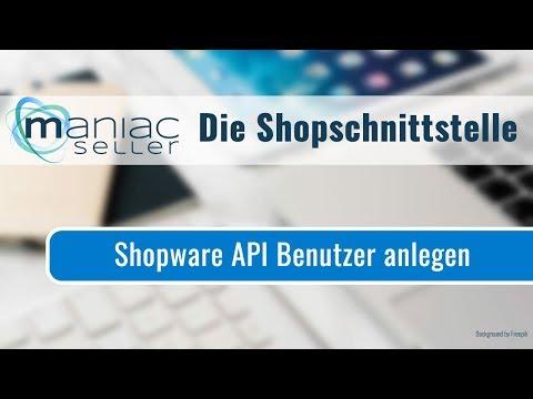 Wo kann ich die Shopware API-Benutzerdaten für die Webshopschnittstelle zu Shopware einrichten?