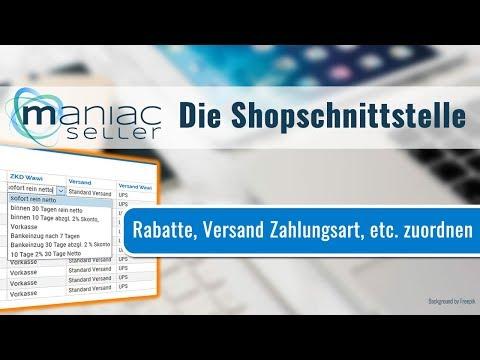 Shopware-Schnittstelle zur SelectLine: Zuschläge, Rabatte und Gutscheine zuweisen